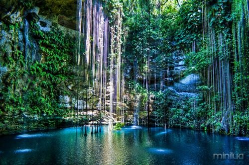 Cenote-Ik-Kil-Mexico-Late-afternoon-view