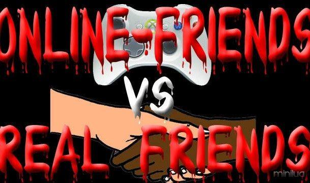 Online-amigos-vs-verdadeiros amigos-gráfico