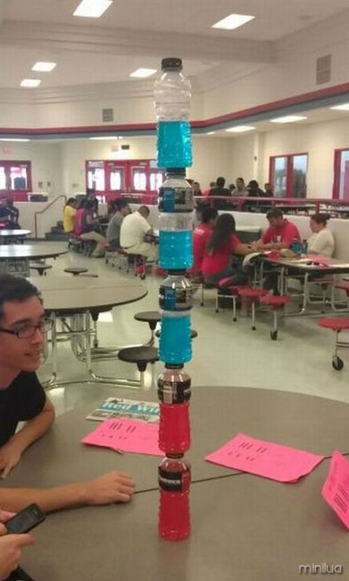 garrafas de equilíbrio