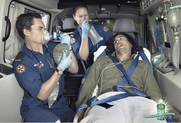 Ambulância Listerine