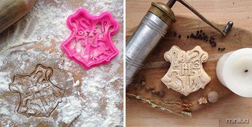 forma de biscoito Hogwarts