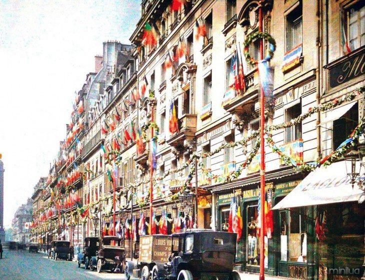 Decoração dos edifícios de Paris no início do século XX