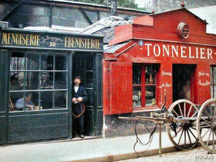 negócios decoração em Paris no início do século XX