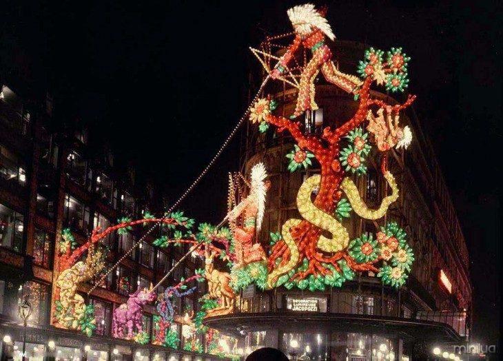 Decoração Fotografia da noite em Paris no início do século XX