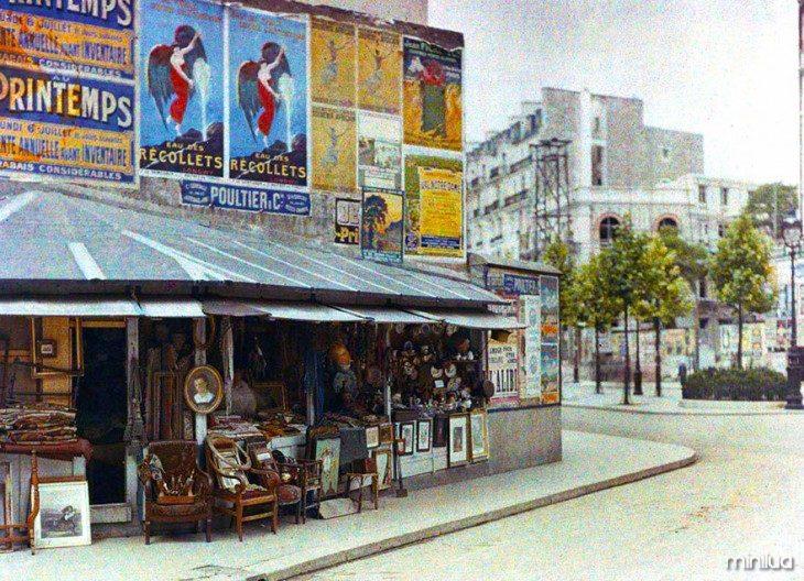 Armazém de mercadorias em Paris em 1914