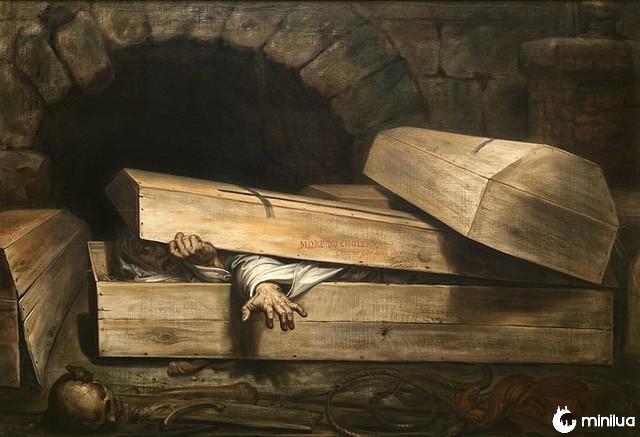 Antoine Wiertz prematura enterro