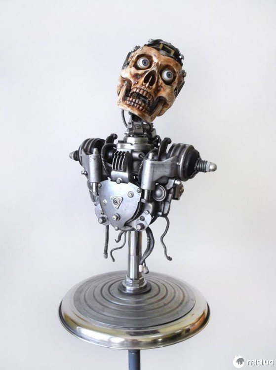 corpo humano feito de lixo Igor Verniy