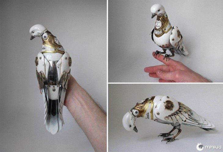 pombos feitos de lixo Igor Verniy