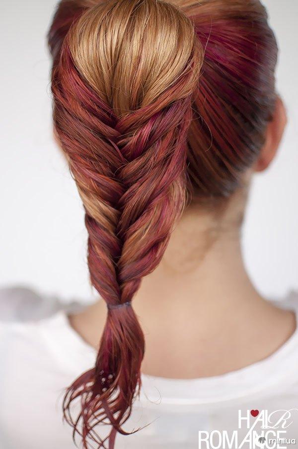 Hair Romance - wet hair styles - the fishtail pony