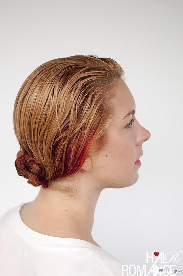 Hair Romance - wet hair styles - the triple twist bun