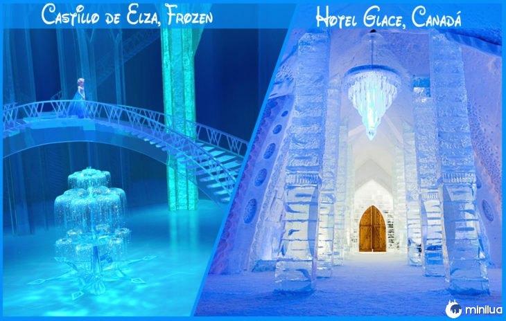 Castelo Real e Disney congelado