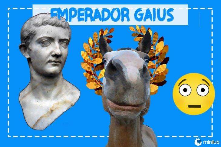 Caio imperador e seu cavalo