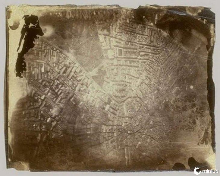 primeira foto aérea