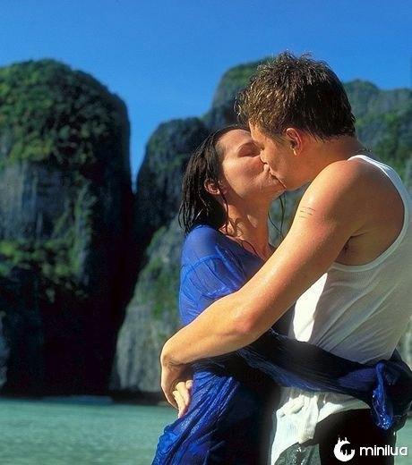 Leonardo DiCaprio e Virginie Ledoyen