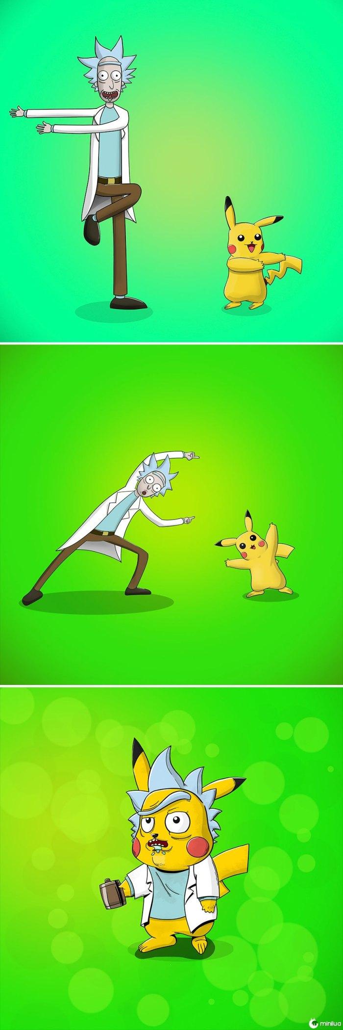 Rick + Pikachu