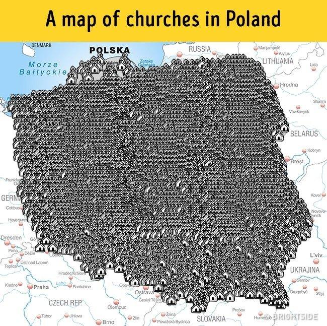 igrejas mapa