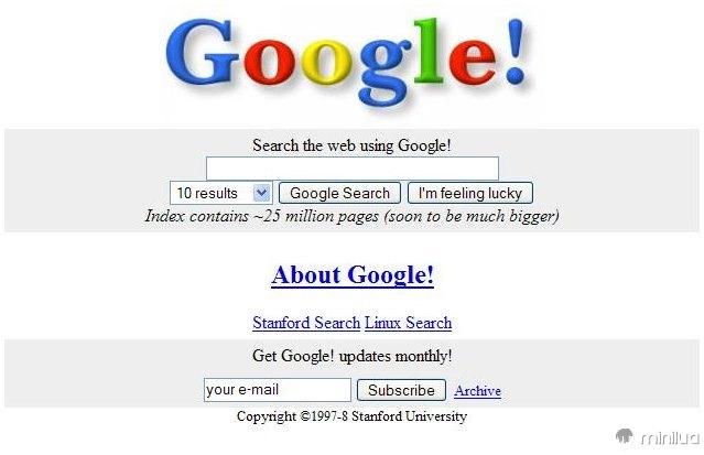 Home page velha de Google