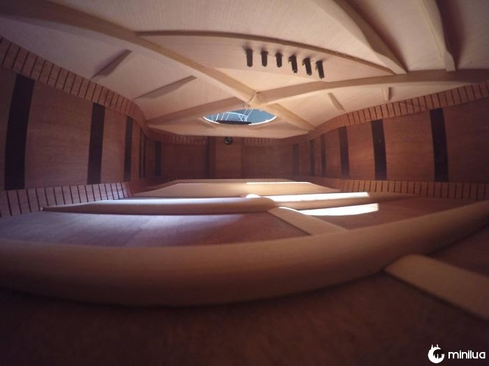 The Inside Of This Guitar Looks Like An Apartment I Can't Afford