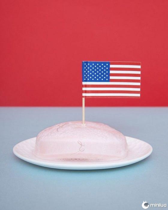não colocar uma bandeira dos EUA no sabão