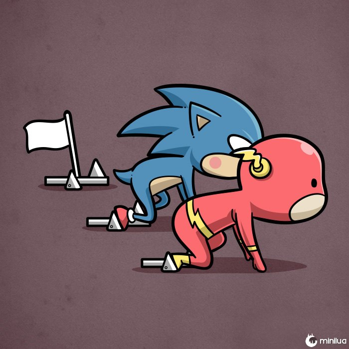 Sporty Flash & Sonic - Atletismo