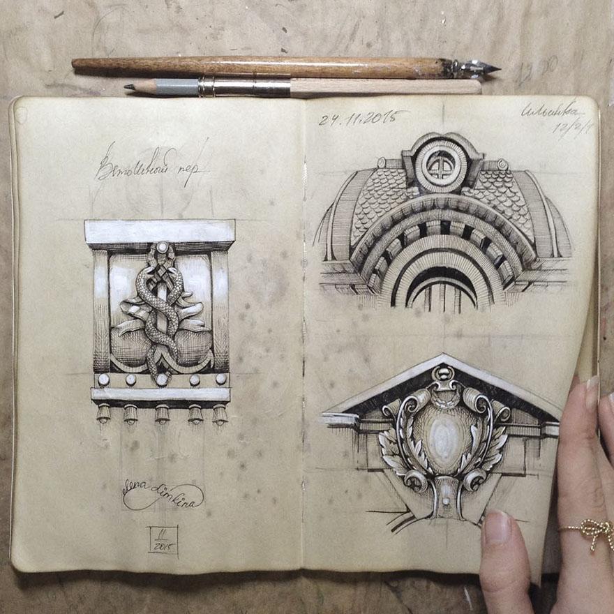 Sketchbook-drawings-elena-limkina-russia