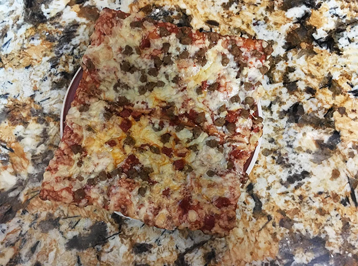 My Pizza Was Camouflaged To My Countertop