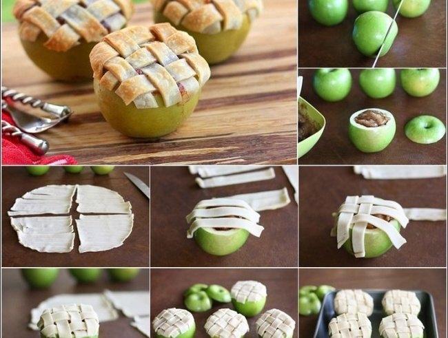 maçãs assadas recheadas