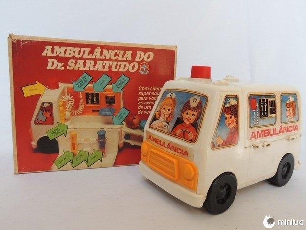 A Ambulância do Dr. Saratudo, que permitia a emoção de um resgate.