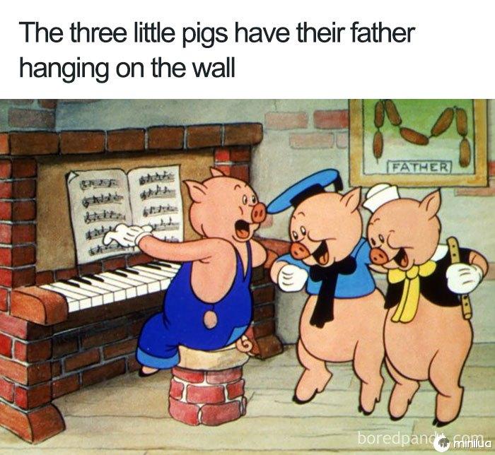 Falha na lógica engraçada dos desenhos animados