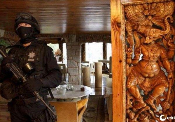 dentro de uma casa apreendidos pelo governo federal mexicano Beltrán Leyva