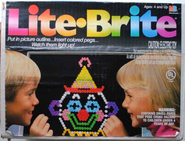 Jogo de mesa Lite Brite