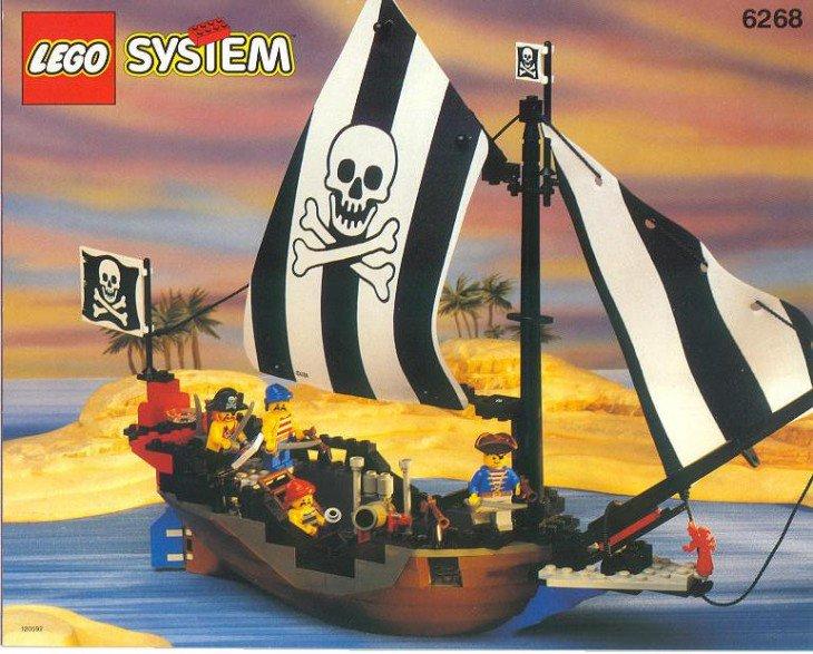 Navio pirata de lego