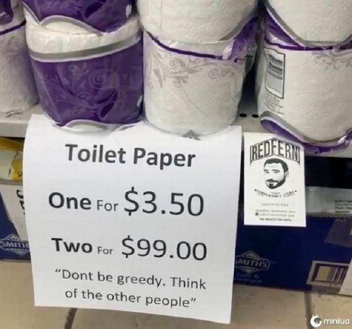 Lojista 'Genius' apresenta uma maneira fácil de impedir que as pessoas estoquem papel higiênico