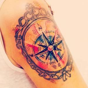 Rosa dos ventos tattoo