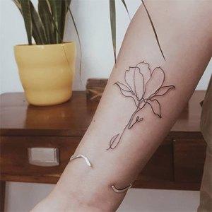 Va.hi.ne Tattoo Continuous line - Minimal Ink