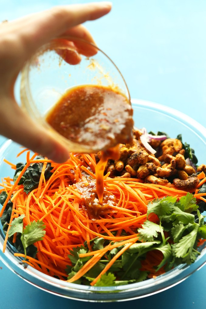 Thai Carrot Salad with Curried Cashews | Minimalist Baker