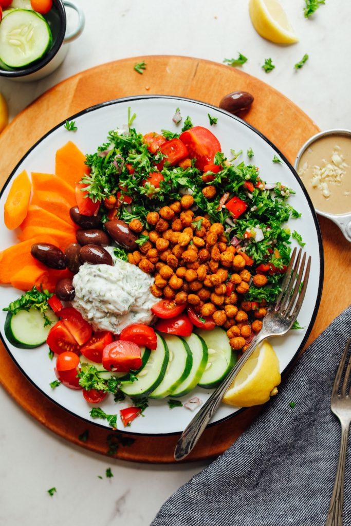 Greek Goddess Salad Bowl Minimalist Baker Recipes