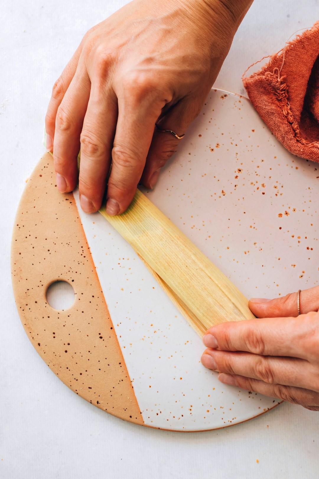 Tamale rolled in a corn husk