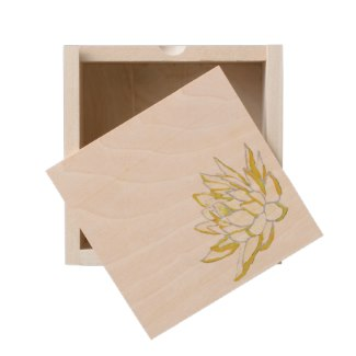 keepsake box, miniatures, time capsule, yellow lotus
