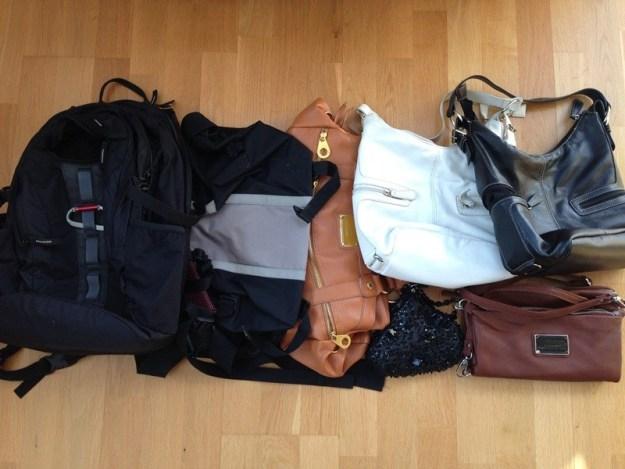 Utrensade väskor
