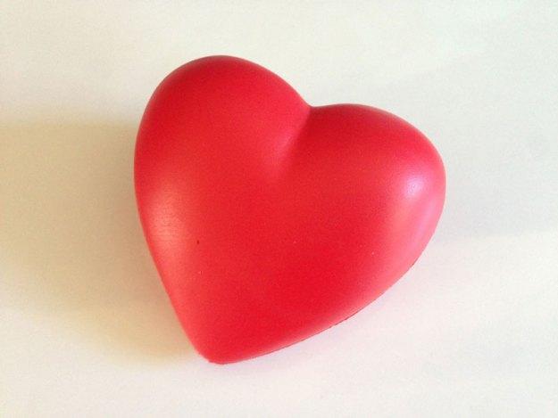Utrensat antistresshjärta att klämma på vid stress.