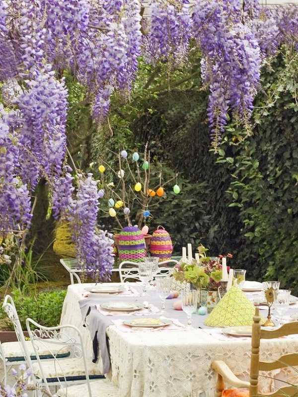 Outdoor Easter decorations - 30 ideas for a special holiday on Backyard Table Decor id=95957
