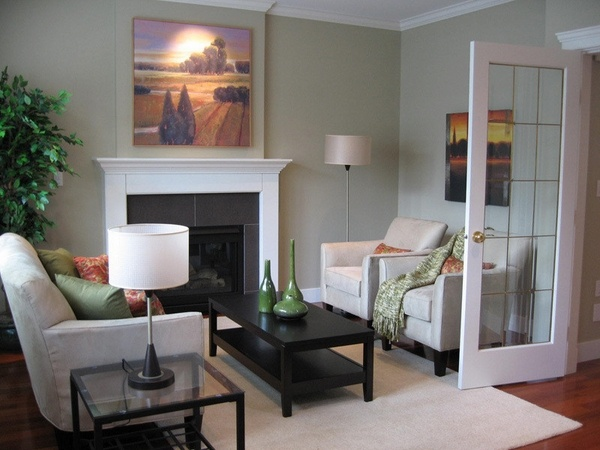 50 Decorating ideas for small living rooms - simple tricks ... on Small Space Small Living Room With Fireplace  id=62877