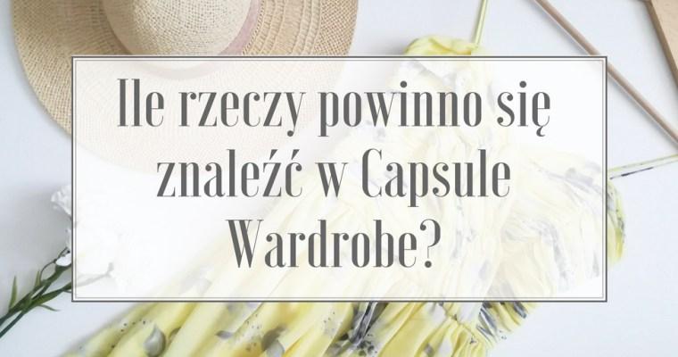 Ile rzeczy powinno się znaleźć w Capsule Wardrobe?