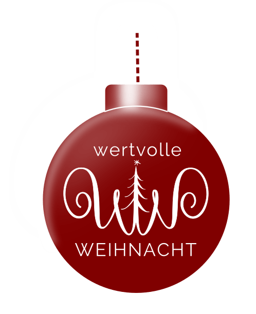 badge Wertvolle Weihnacht rot minimalistmuss.com