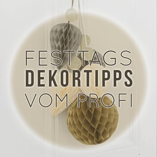Festtagsdeko - Tipps vom Profi bei MINIMAL IST MUSS