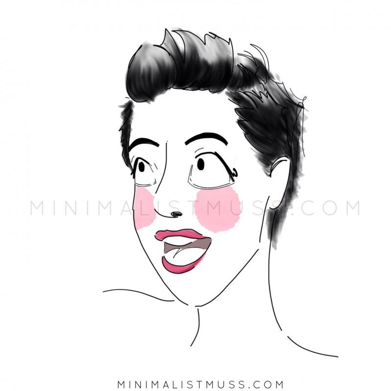 Self-portrait Nic from minimalistmuss.com