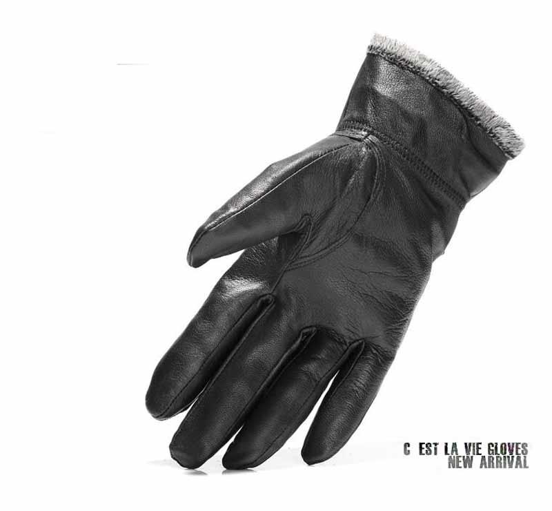 Gloves men Leather 8