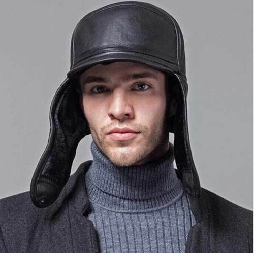 Genuine Leather Sheepskin Cap