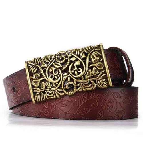 Belt For Women Waistband Cowskin Leather